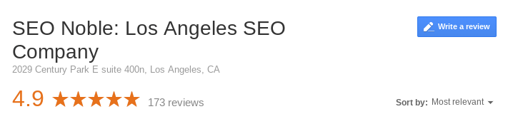 seo noble google places review